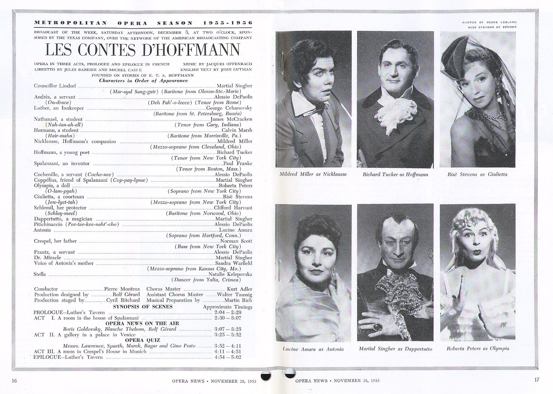 LES CONTES D'HOFFMANN @      